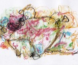boy alkaf, untitle #3 part II, acrylic and water colour on paper, A4, 2013