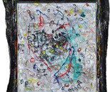 boy alkaf, untitled (OTHERWISE MINDED series), variable, mix and frame on canvas, 2013
