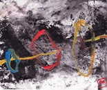 untitle #1 part XXI, acrylic on   recycle paper, F5,  2014