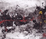 untitle #7 part XXI, acrylic on   recycle paper, F5,  2014