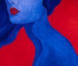 "BLUE NECK (30""x30"")"