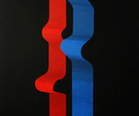 Series V, Red and blue ribbons,140x204cm, acrylic on canvas. Price: $17000