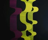 Series V, Banana ribbons, 144x204cm, acrylic on canvas. Price: $17000