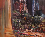 01. Blue dog and City Hall. Oil on canvas. 2013 New York. 36'x27'.