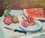 POMEGRANATES AND MELON - MELOGRANI E MELONE