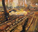 09 Autumn Dream 43x33 cm (16x12 inch). Oil on canvas. 2012. ??????? ??? 43?33