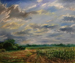 Cornfield. 120x95 cm (47x37 inch). Oil on canvas. 2012. Only finger.
