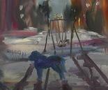 24 Dog and lantern 30x42 cm (11x16 inch). Oil on canvas. 2012.