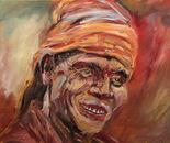 Holi 27?37 cm(10x14 inch). Oil on canvas. 2012