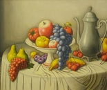 still life,oil on canvas painting