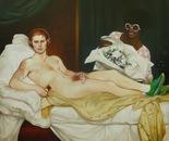 OLYMPIO DE BRUET oil on canvas 150 cm x 150 cm
