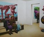 GALERIE oil on canvas 116 cm x 81 cm