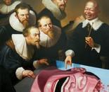LA LECON DE PEINTURE oil on canvas 146 cm x 97 cm