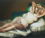 LA DORA DESNUDA oil on canvas 97 cm x 146 cm