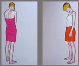 """""""Romina Dittico"""" 160x180 oil on canvas 2013"""
