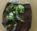 "dixon / ""Sunk"" / 10x13cm / spray paint and acrylic on metal / 2013"
