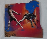 "dixon / ""Unrest"" / 42x43cm / spray paint and acrylic on cardboard / 2014"
