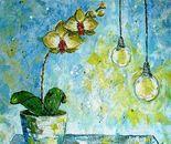 «As moths on light» Acrylic on canvas. 65\60. 2011
