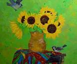 «Pilferers» Acrylic, oil on canvas. 60\65. 2014.