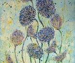 «Ice chrysanthemums» Acrylic on canvas. 50\70. 2013.   /