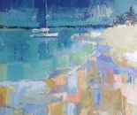 Sea and sailboat