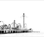 Pleasure Pier in Black and White