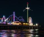 Pleasure Pier at night
