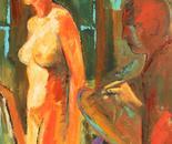 modella e pittore
