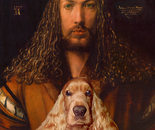Albrecht and his Dog Honey (Homage on Duerer)