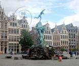 Statue Silvius Brabo, Antwerpen (België)
