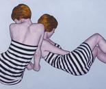 """""""Romina 30""""  90x180 oil on canvas 2014"""