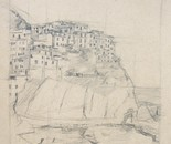 Manarola in pencil