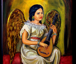 Angel with musical instrument
