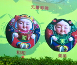 Chinese poster of babies