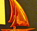 bronze sailboat