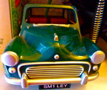 Morris Minor modelof the 1950's (detail)
