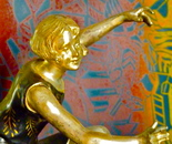 detail of Art Déco statue