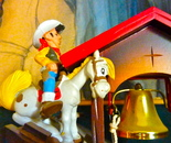 Lucky Luke wood bauble