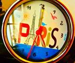 Paris souvenir clock made in China