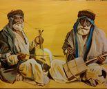Bedouine musicians circa1860 after Bonfils 100x70 acr 2014