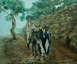 Family in Palestine circa  1860 after Bonfils100x70 oil 2014