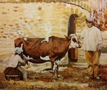 Jewish Farmers in the Galilee circa1869 after Bonfils 100x80 acr 2014