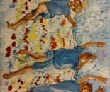 Kibbutz boys in spring 90x70 acr 2014