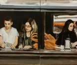 The Last Supper in Tel Aviv, two frames each 80x60 acr 2014