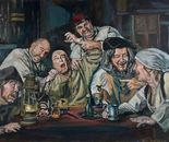 The Dentist and Co, -tribute to Derek Galon 110x80 oil 2014