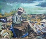 Reading in the Dump Yard 60x40 oil 2013