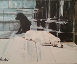 The thinking dogs 90x60 acr 2013