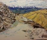 Himalaya Road Acr. 80x60 2013 Family