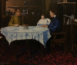 My baby Mother and Grand parents~1914, Acr 80x60 2013 family