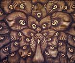 """""""Peacock"""" 80x120 Acrylic on Canvas"""
